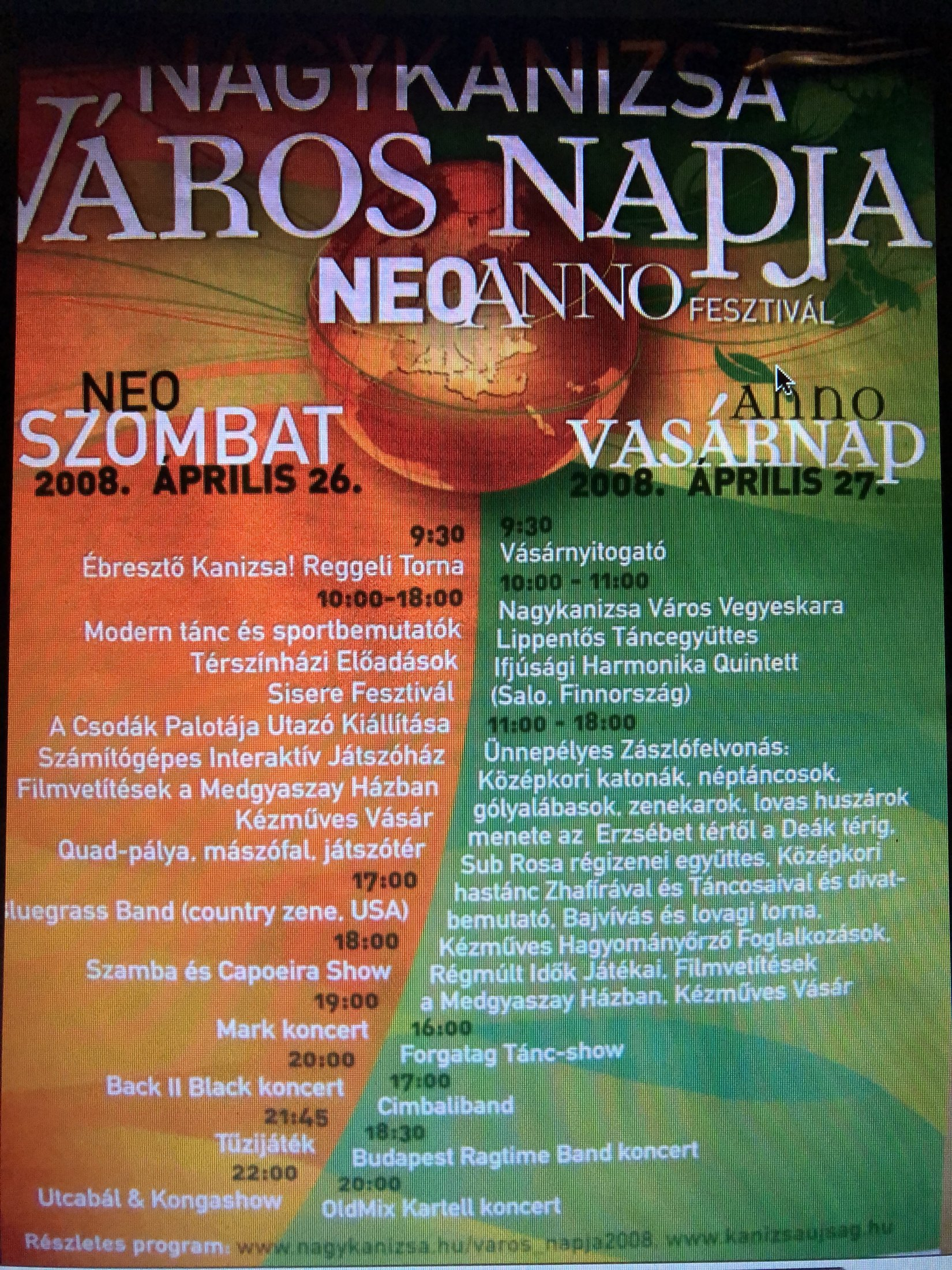 Poster of one venue Hungary 2008